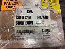 EATON S10N11E05N S05031 5KVA 240/120V-240/120V NEMA 3R ENCL TRANSFORMER *NEW*
