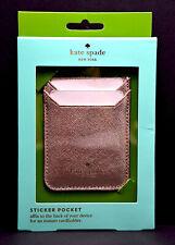 Kate Spade New York Phone Sticker Pocket Card Holder Rose Gold