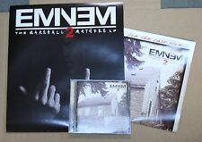 EMINEM The Marshall Mathers LP2 RARE PROMO CD + 2 DOUBLE SIDED POSTER