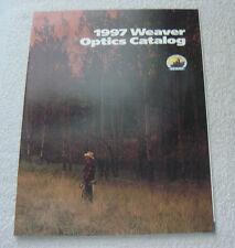 Weaver Optics Scope Sight 1997 Gun Catalog shooting