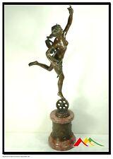 """DROUOT bronze statue """"FORTUNE"""" companion to Mercury"""