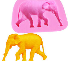 3D Silicone Elephant Chocolate Sugarcraft Mould Cake Decor Topper Baking UK