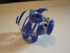 murano glass cochon bleu pig blue