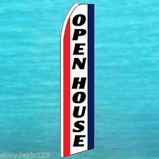 OPEN HOUSE FLUTTER FEATHER FLAG Real Estate Swooper Advertising Sign Bow Banner