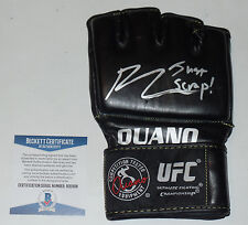 BJ PENN SIGNED AUTO'D UFC OUANO GLOVE BAS BECKETT COA 123 46 80 32 34 JUST SCRAP