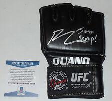 BJ PENN SIGNED AUTO'D UFC OUANO GLOVE BAS BECKETT COA 123 46 80 32 34 JUST SCRAP