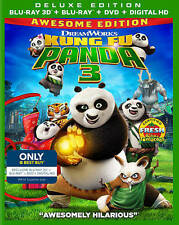 Kung Fu Panda 3 2D & 3D Blu-ray + DVD + Digital HD (Jack Black)