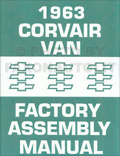 1963 Corvair 95 Van and Pickup Assembly Manual Greenbrier Rampside Corvan Chevy