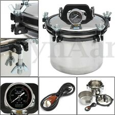 8L Steam Autoclave Sterilizer Dental Heating Pressure Sterilization 1000W