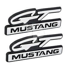 "1994 1995 Ford Mustang GT 4.25"" Chrome Fender Emblems Badges - Pair"