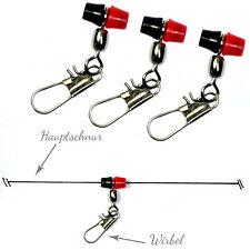 10x PERLEN-WIRBEL | Posenadapter mit SicherheitsWirbel für Pose & Waggler NEU