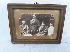 Old Photograph Antique Vintage South Indian People Dress Style Black and White