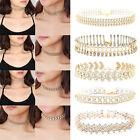 Women Fashion Gold Choker Collar Rhinestone Crystal Chain Necklace Jewelry Gift