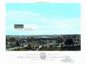 Reprint of 1856 Litho of Salem View West by J B Bachelder