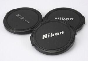 NIKON 62MM FRONT CAPS, PLASTIC BUTTON, LOT OF THREE/189437