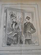 Caricature 1887 - Nouveau moyen de garder son chien en chemin de fer