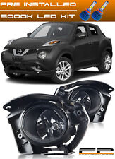 For 2014 2015 2016 2017 Nissan Juke LED Clear Fog Light Full Kit Switch+Harness