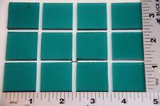 "New! 1176.30-12 Transparent Peacock Blue 1"" x 1"" Bullseye 3mm Thick Glass 90 Coe"