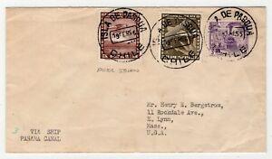 CHILE 1955 Isla de Pascua Easter Island Ile de Paque to USA by ship