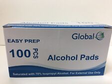 100 GLOBAL EASY PREP ALCOHOL PREP PADS (isopropyl alcohol) liquid PART # 65-0111