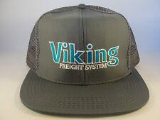 Viking Freight System Vintage Trucker Snapback Hat Cap Gray