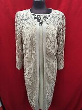 ADRIANNA PAPELL DRESS &JACKET/NEW WITH TAG/SIZE 2/RETAIL$180/LACE DRESS/CHAMPAGN