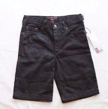 Levi Kids Boys Black Denim Shorts Adjustable waist - Size 10 NEW