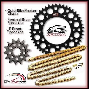 13//50 BLACK compatible with Yamaha WR250F Renthal Grooved Front /& Ultralight Rear Sprockets /& R3 O-Ring Chain Kit YZ250F YZ125
