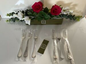 CHRISTOFLE Malmaison 6 dinner forks 20,5 cm long. Silver plate.