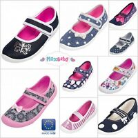 BEAUTIFUL Shoes Slippers for Girls Canvas Trainers Pumps Autumn Size UK 6.5–12