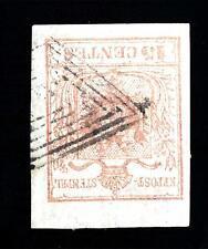 ITALIA - LOMBARDO VENETO - Annull, - Muto di Bergamo su 15 cent. - Cert. Sorani