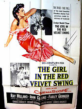 The Girl in the Red Velvet Swing Fine Orig.US 27x41 movie poster Joan Collins