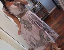 Lang Kleid Neu 42 44 Flower Sommer Baumwolle Blogger Boho Hippie Chic Blumen XL