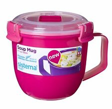 Sistema Microwave Soup Mug To Go Assorted Colors 565 ml Fast And Free Delivery