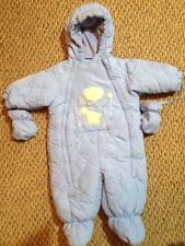 Casual Time Baby Puffer Winter Outfit Romper One Snowsuit Size 0/9 month