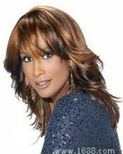 Beautiful Fashion wig New Charm Women's Long Brown Mix Blonde Curly Full wigs