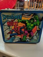 1980 Vintage Aladdin 3-D Spider-Man and The Hulk! Metal Lunch Box