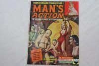 Man's Action Nov 1961 Adventure MagazineNazi Horror Tortures Bondage Story