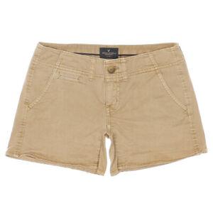 American Eagle Shortie Shorts Size 0 W28 Khaki Tan Womens Low Rise Stretch