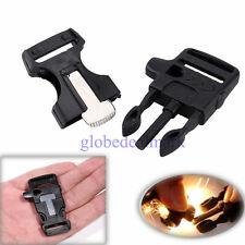 For Paracord Bracelet Side Release Whistle Buckle Flint & Striker