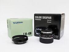 Obiettivo Voigtlander Color Skopar 35 mm f/2.5 M-mount + paraluce LH-4N
