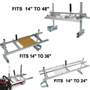 Fit 14''-24''/36'/48'' Chainsaw Guide Bar Mill Planking or Strip Lumber Cutting