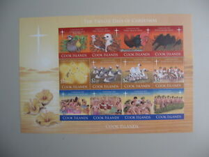 COOK ISLANDS, block THE TWELVE DAYS OF CHRISTMAS, 2011,  **/MNH