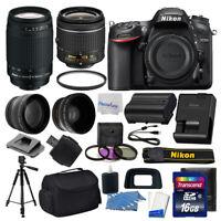 Nikon D7200 Digital SLR Camera + 4 Lens Kit: 18-55mm VR + 70-300mm + 16GB Bundle