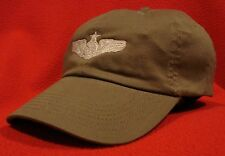 Air Force Senior Aircrew Silver Wings ball cap low-profile aviator hat Od Green