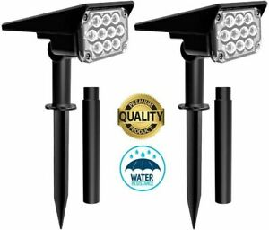 20 LED Solar Power Spotlight Landscape Lawn Garden Wall Lamp Lights Waterproof