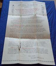 BR1660 Vtg 1930's Quebec Dress Specialty Co Montreal Letter & Envelope Women Ad