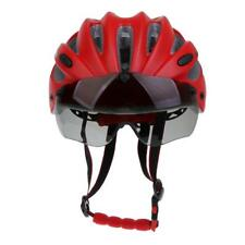 Adult Mens Womens Youth Cycle Helmet Adjustable and Bicycle Bike Visor Red