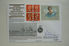 HOCKADAY COVER SERIES 3 No 37 QUEEN'S 70th BIRTHDAY - SIGNED SIR PAUL GREENING