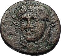 GRYNION or Gyrneion Aeolis 306BC Apollo Shell RARE Ancient Greek Coin i70480